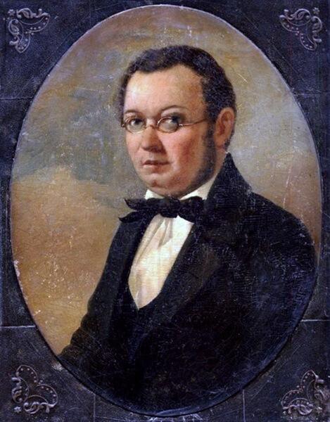 Прижизненный портрет Петра Павловича Ершова работы художника Николая Маджи (конец 1850-х), считающийся самым достоверным изображением автора «Конька-горбунка»