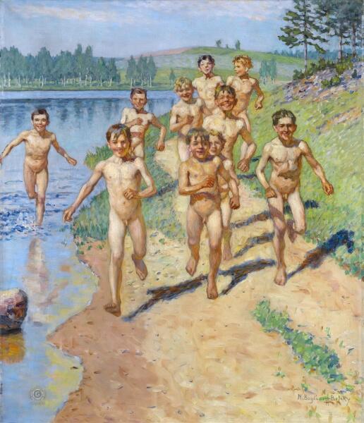 Н. П. Богданов-Бельский, «Будущие спортсмены», начало ХХ века