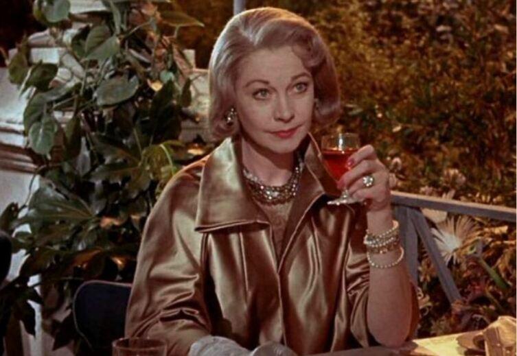 Вивьен Ли в роли Карен Стоун. Кадр из к/ф «Римская весна миссис Стоун», 1961 г.