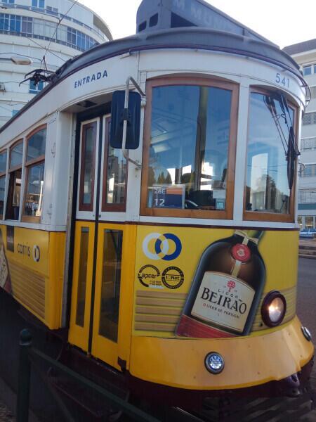 Трамвай №28 на конечной остановке