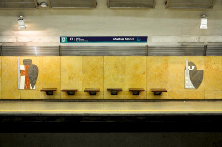 Крестоносцы и рыцари 12-го века. Взгляд из века 21-го. Станция «Мартин Муниш» Лиссабонского метрополитена