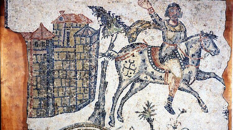 Знатный вандал на мозаике конца V века. Британский музей