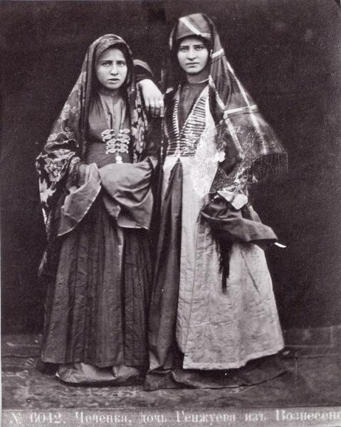 Чеченки, фото Дмитрия Ермакова, около 1900 г.
