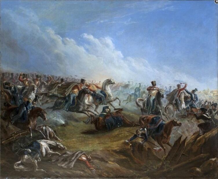 М. Ю. Лермонтов, «Атака лейб-гвардии гусар под Варшавой 26 августа 1831 года», 1837 г.