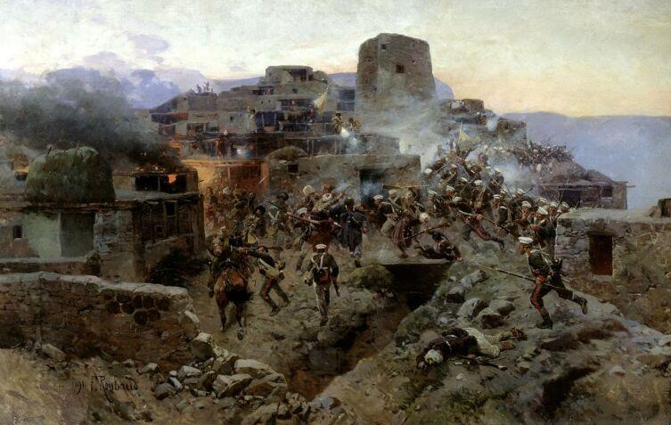Ф. А. Рубо, «Штурм аула Гимры», 1891 г.