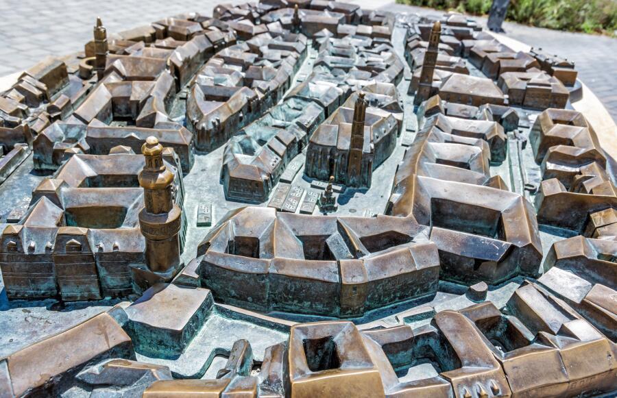 Миниатюрная модель города Шопрон в Венгрии