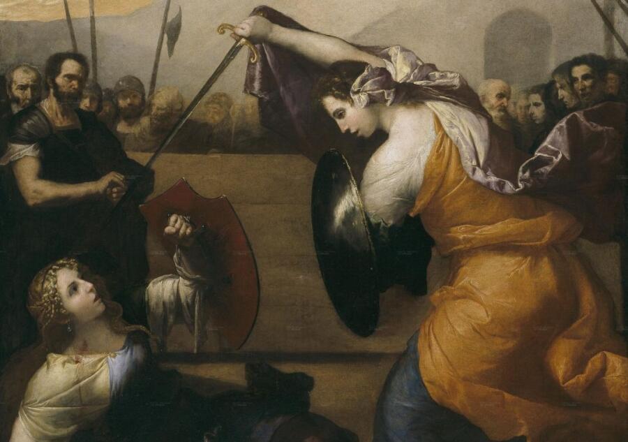 Хосе де Рибера, «Поединок дам» (фрагмент), 1636 г.