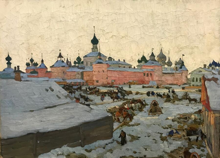 К. Ф. Юон, «Зима в Ростове», 1906 г.