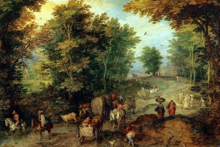 Ян Брейгель старший, «Пейзаж с бродом»