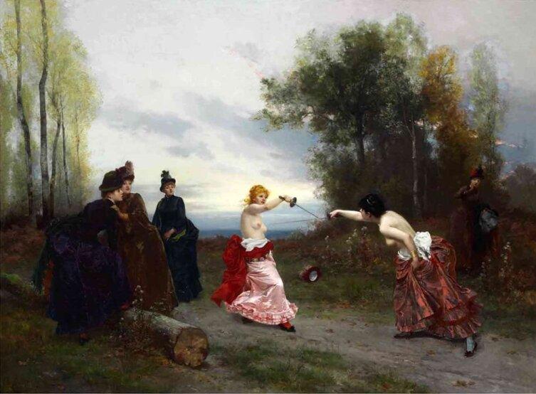 Эмиль-Антуан Байяр, «Дуэль», 1884 г.