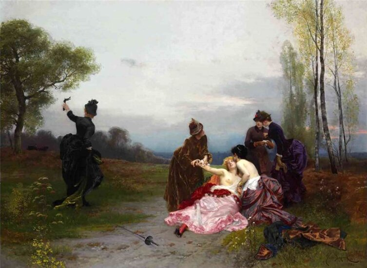 Эмиль-Антуан Байяр, «Примирение», 1884 г.