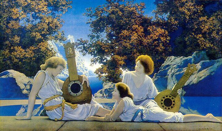 Максфилд Пэрриш, «Играющие на лютне», 1900-е гг.<br />