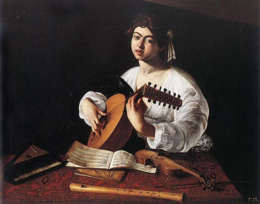 Микеланджело Меризи де Караваджо, «Лютнист», 1596 г.