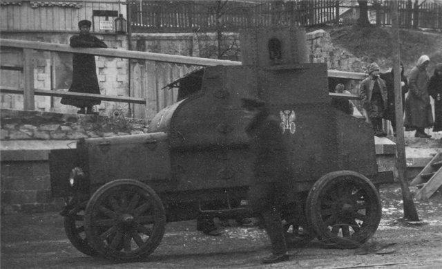 Бронеавтомобиль «Фиат-Омский» на шинах типа «гусматик»