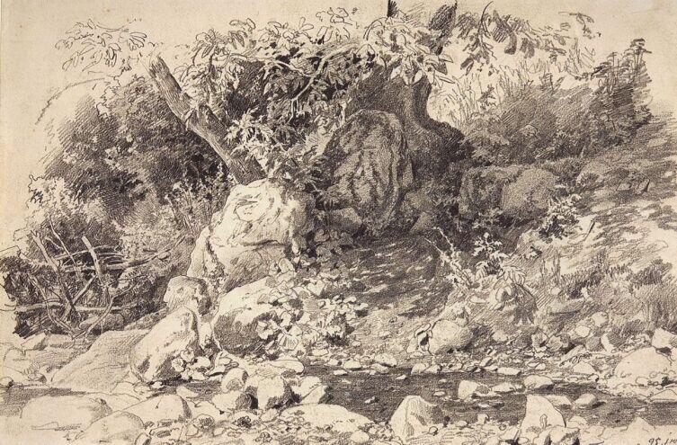 И. И. Шишкин, «Ручей в Гурзуфе», 1879 г.