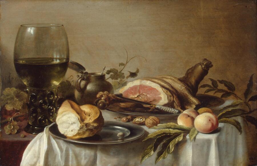 Питер Клас, «Завтрак с ветчиной», 1647 г.