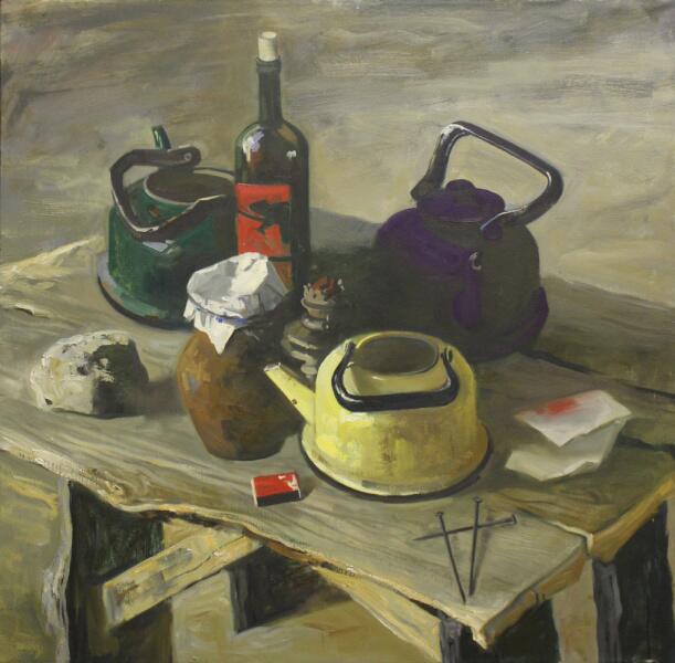 Daria Viktorovna Lebedeva, «Натюрморт с чайниками», 2017 г.