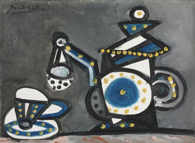 Пабло Пикассо, «Натюрморт с чайником и чашкой», 1953 г.
