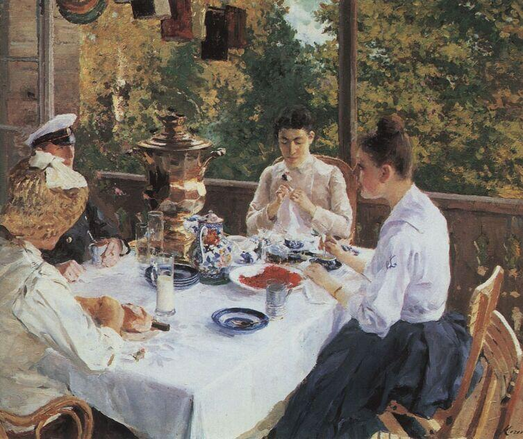 К. А. Коровин, «За чайным столом», 1888 г.