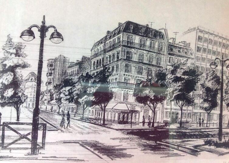 Бульвар Монпарнас 168. Эскиз Никиты