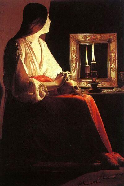 Жорж де Латур, «Отражение свечи в зеркале»