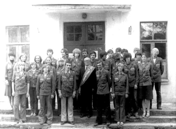 Общий снимок с почетным членом отряда