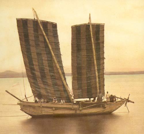 Корейская джонка на фото 1871 года