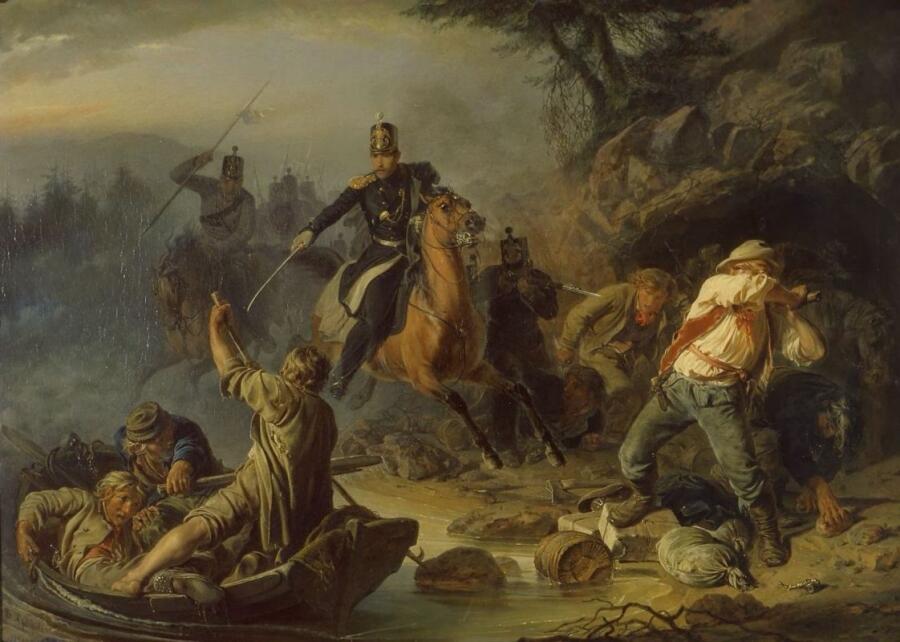 В. Г. Худяков, «Стычка с финляндскими контрабандистами», 1853 г.