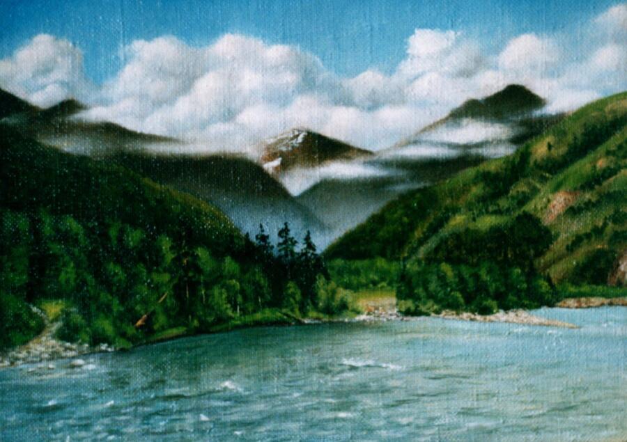 В. В. Абаимов, «Катунь у Тюнгура», 2004 г.