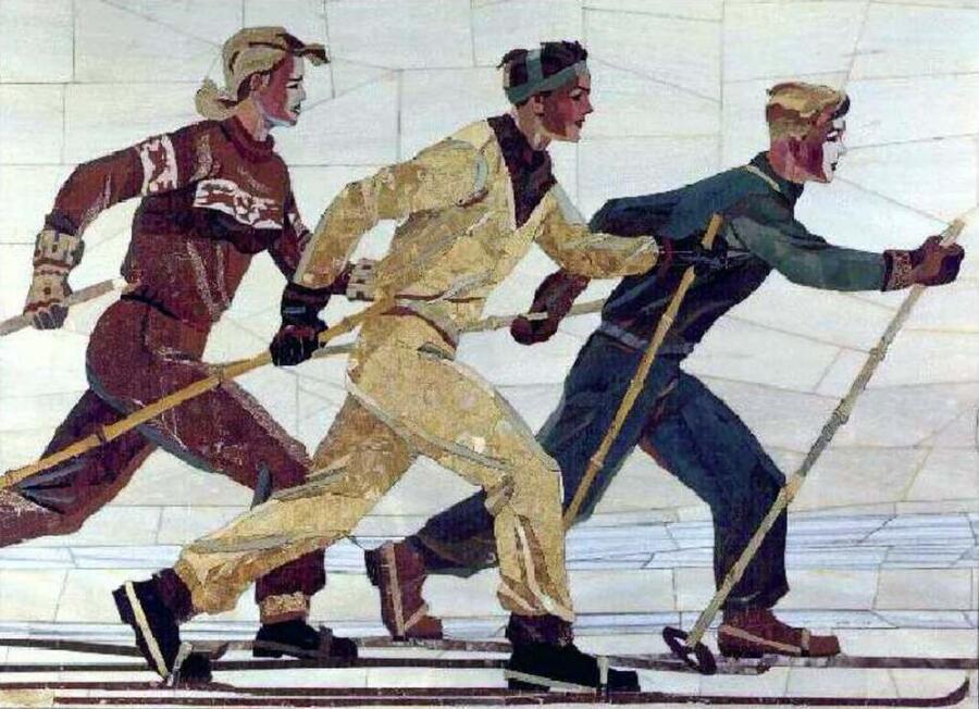 А. А. Дейнека, «Лыжники», 1950 г.