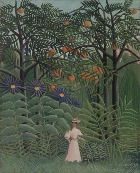 Анри Руссо, «Женщина, гуляющая в экзотическом лесу», 1905 г.