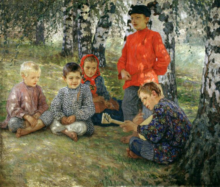 Н. П. Богданов-Бельский, «Виртуоз», 1891 г.