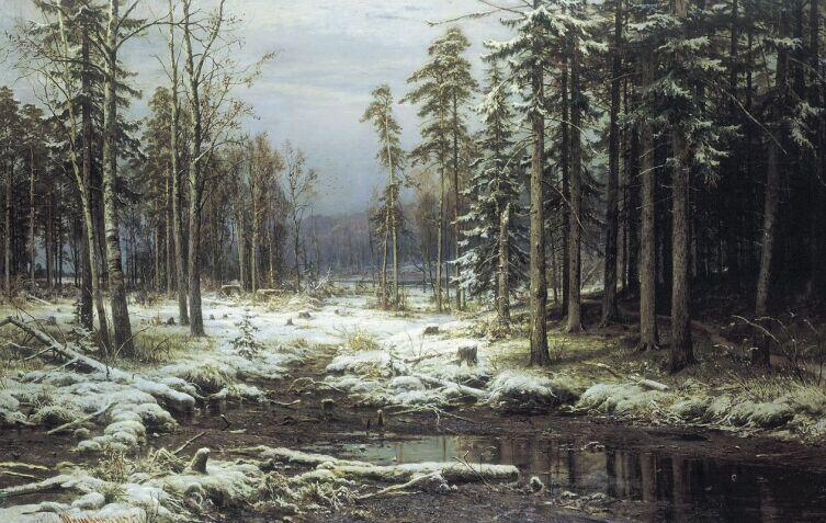 И. И. Шишкин, «Первый снег», 1875 г.