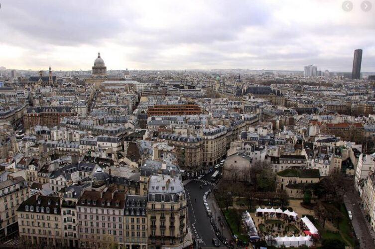 Вид на Латинский квартал. Париж