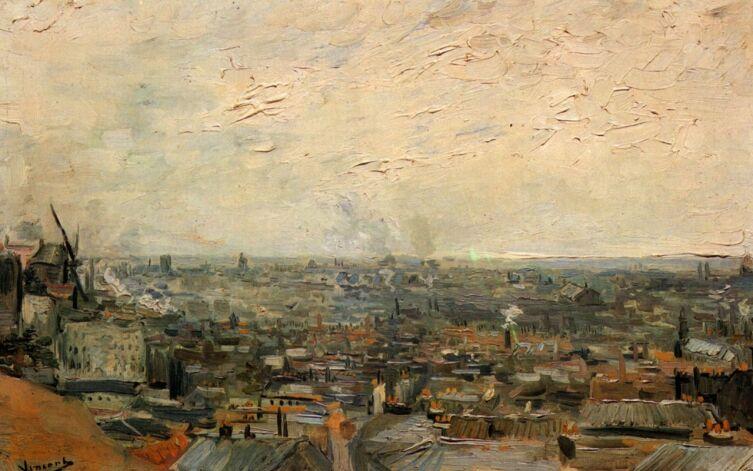Винсент Ван Гог, «Парижский вид с Монматра», 1886 г.