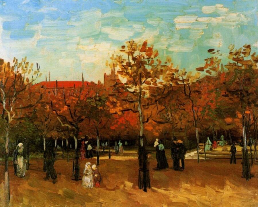 Винсент Ван Гог, «Булонский лес с гуляющими людьми», 1886 г.