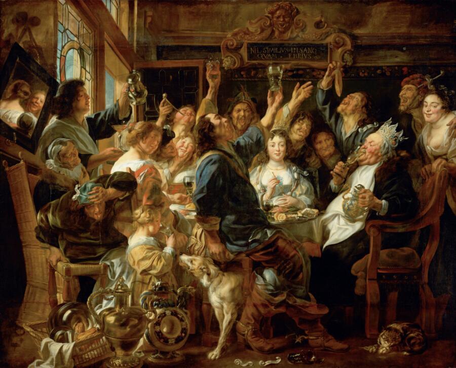 Якоб Йорданс, «Бобовый король», 1640-е гг.
