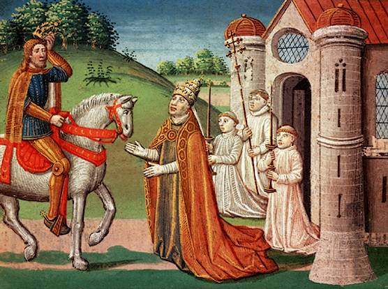Антуан Верард, «Карл Великий и папа Адриан I»
