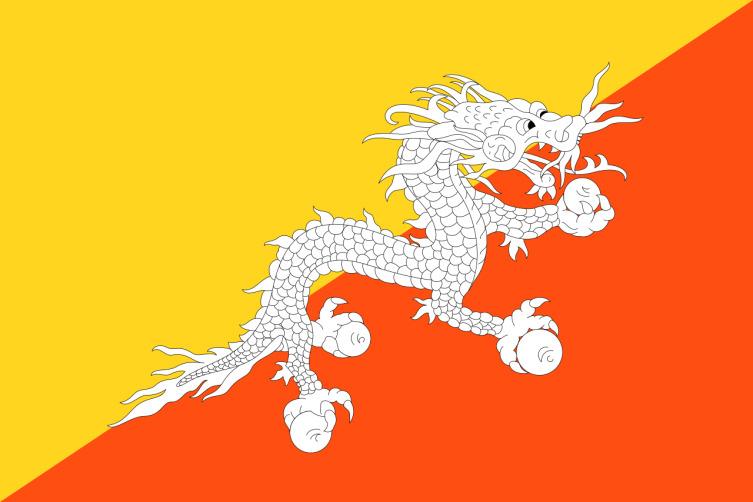 Флаг королевства Бутан