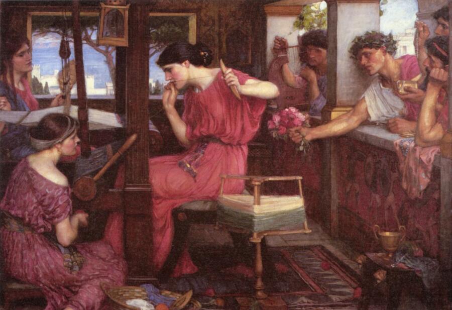 Джон Уильям Уотерхаус, «Пенелопа и поклонник», 1912 г.