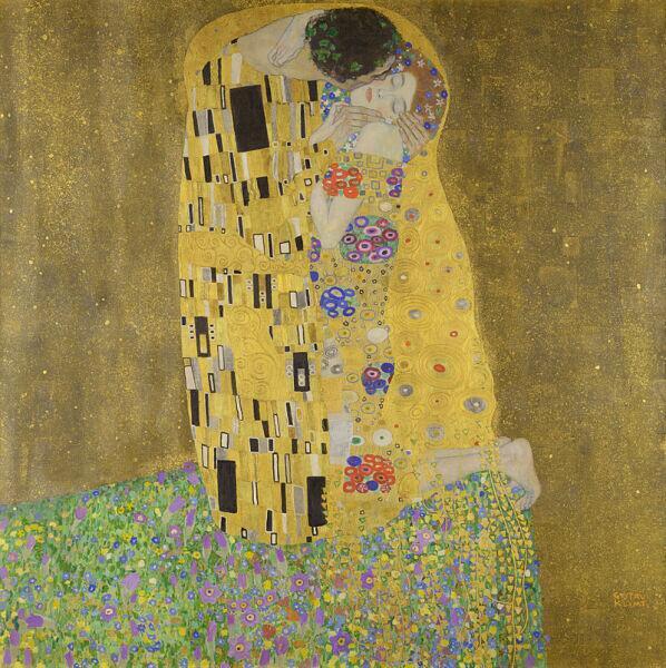 Густав Климт, «Поцелуй», 1907—1908 гг.