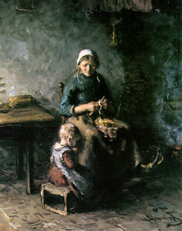 Бернардус Бломмерс, «Чистка картофеля»