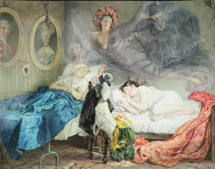 К. П. Брюллов, «Сон бабушки и внучки», 1829 г.