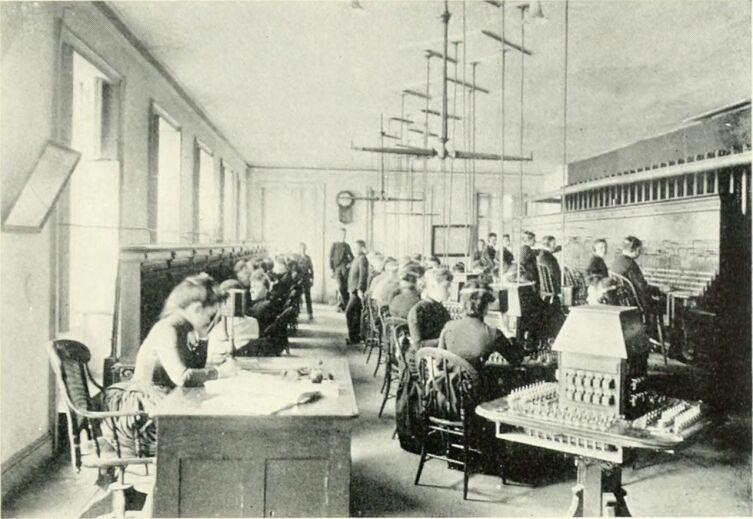 Телефонная станция 1880-е г.