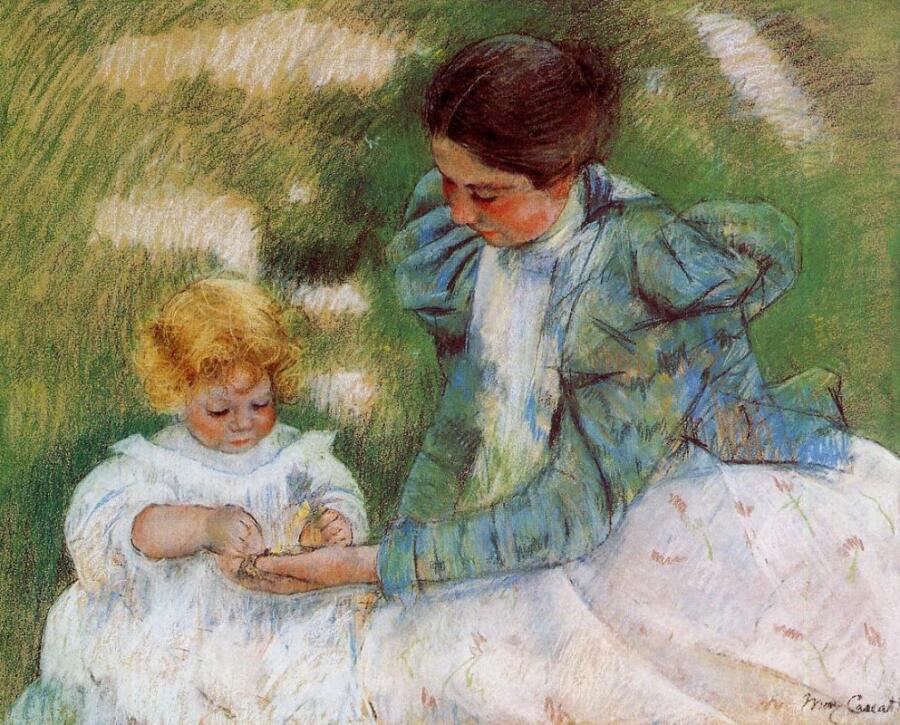 Мэри Кассат, «Мать, играющая со своим ребенком»