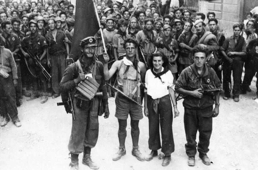 Бойцы Гарибальдийских бригад во Флоренции <br /> . Август 1944 г.
