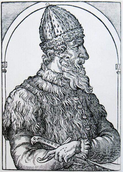 Иван III Васильевич. Гравюра из «Космографии» А. Теве, 1575 г.
