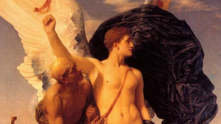 Сэр Фредерик Лейтон, «Дедал и Икар» (фрагмент), 1869 г.