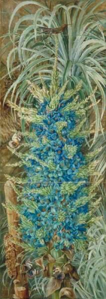 Марианна Норт, «Голубая пуйя, колибри и бабочка, Чили», 1880-е гг.