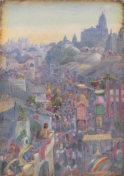 Марианна Норт, «Фестиваль Мухаррам, Удайпур, Раджастхан, Индия», 1879 г.